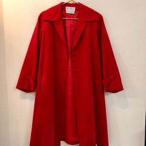 Gino Rossi Vintage Red Ultrasuede trench coat M